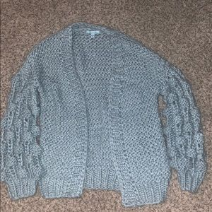 Light blue sweater cardigan